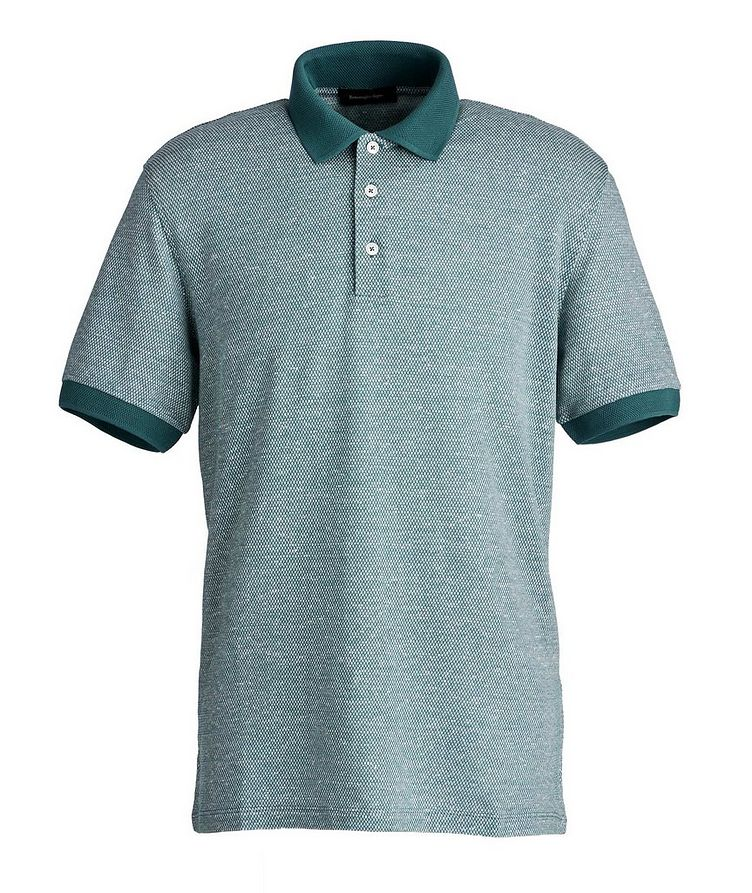 Textured Cotton-Linen Polo image 0