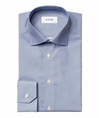 Eton Slim Fit Diamond-Deco Dress Shirt