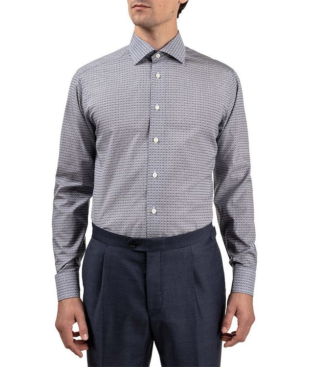 Slim Fit Logo-Printed Dress Shirt picture 2