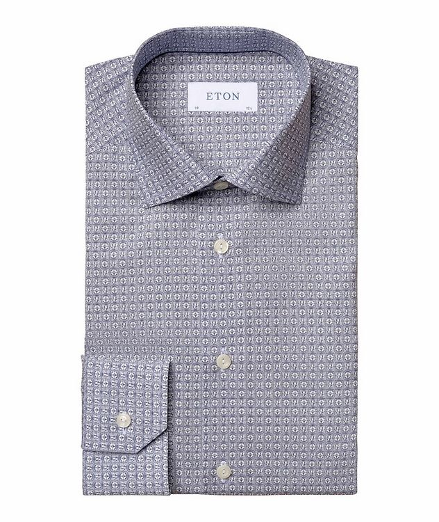 Slim Fit Logo-Printed Dress Shirt picture 1