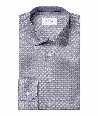 Eton Slim Fit Logo-Printed Dress Shirt