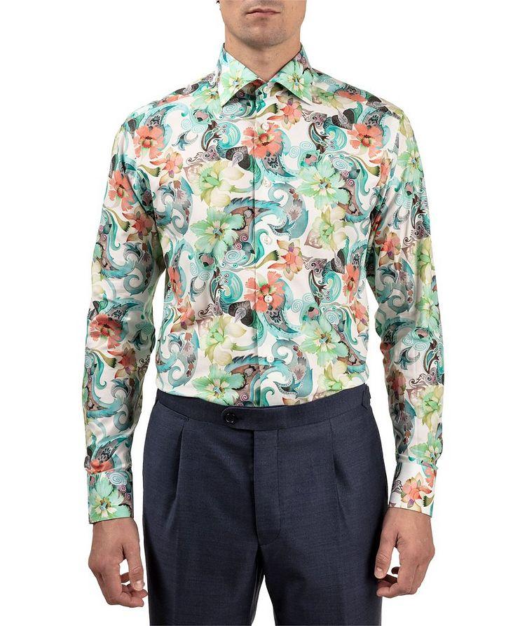 Slim Fit Botanical Dress Shirt image 1