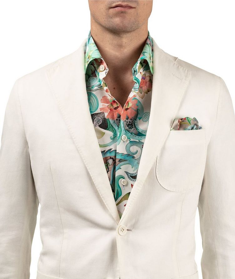 Slim Fit Botanical Dress Shirt image 4