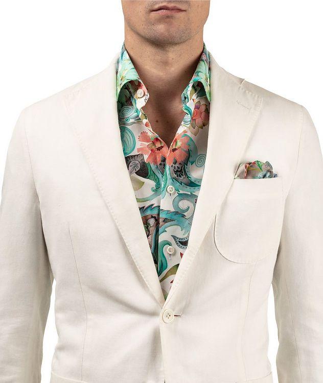 Slim Fit Botanical Dress Shirt picture 5