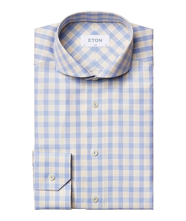 Slim Fit Gingham Dress Shirt picture 1