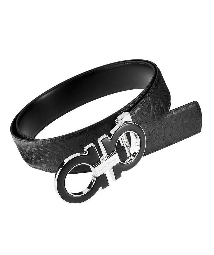 Reversible Double Gancini Leather Belt image 0