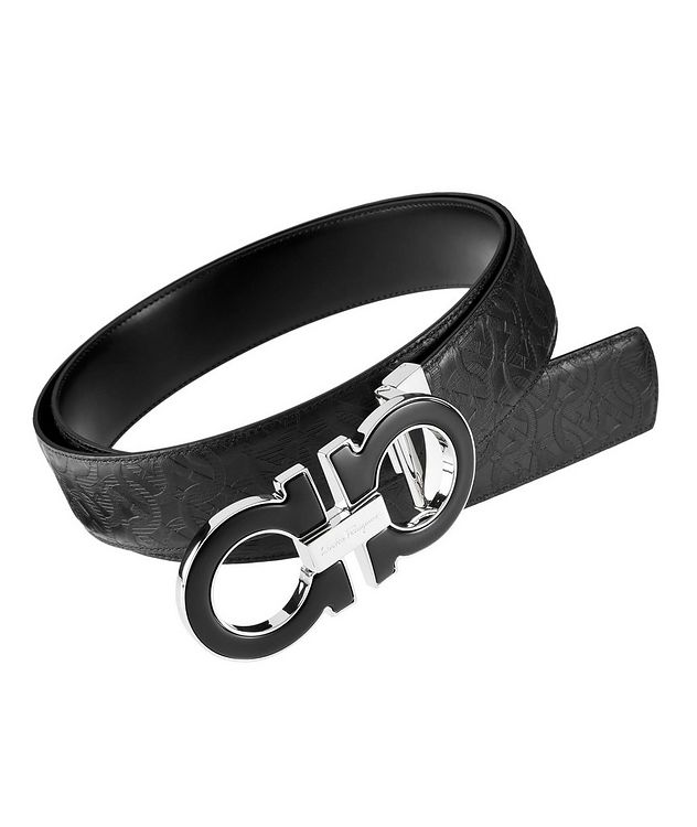 Reversible Double Gancini Leather Belt picture 1