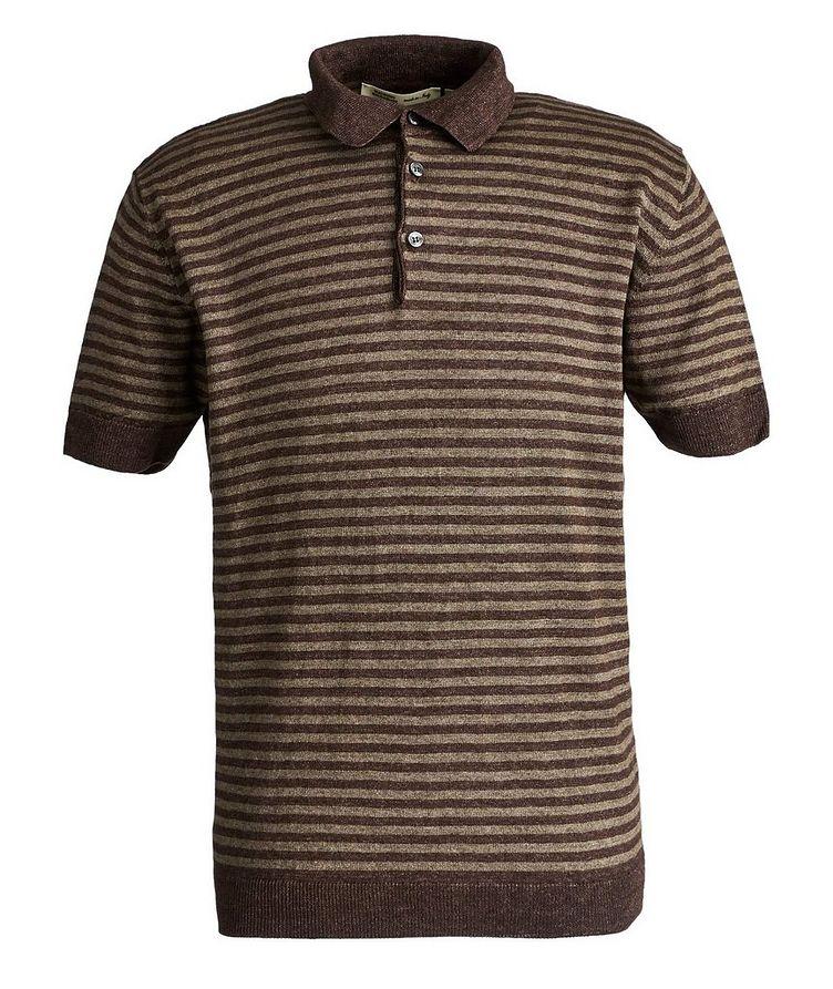 Striped Linen Polo image 0
