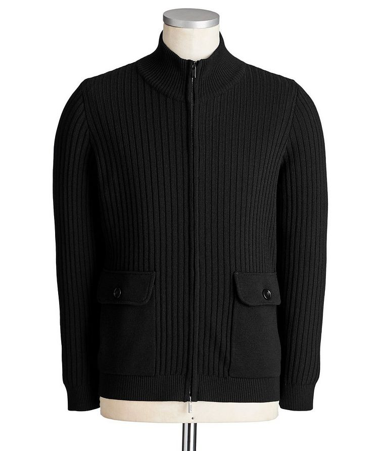 Zip-Up Wool Sweater image 0