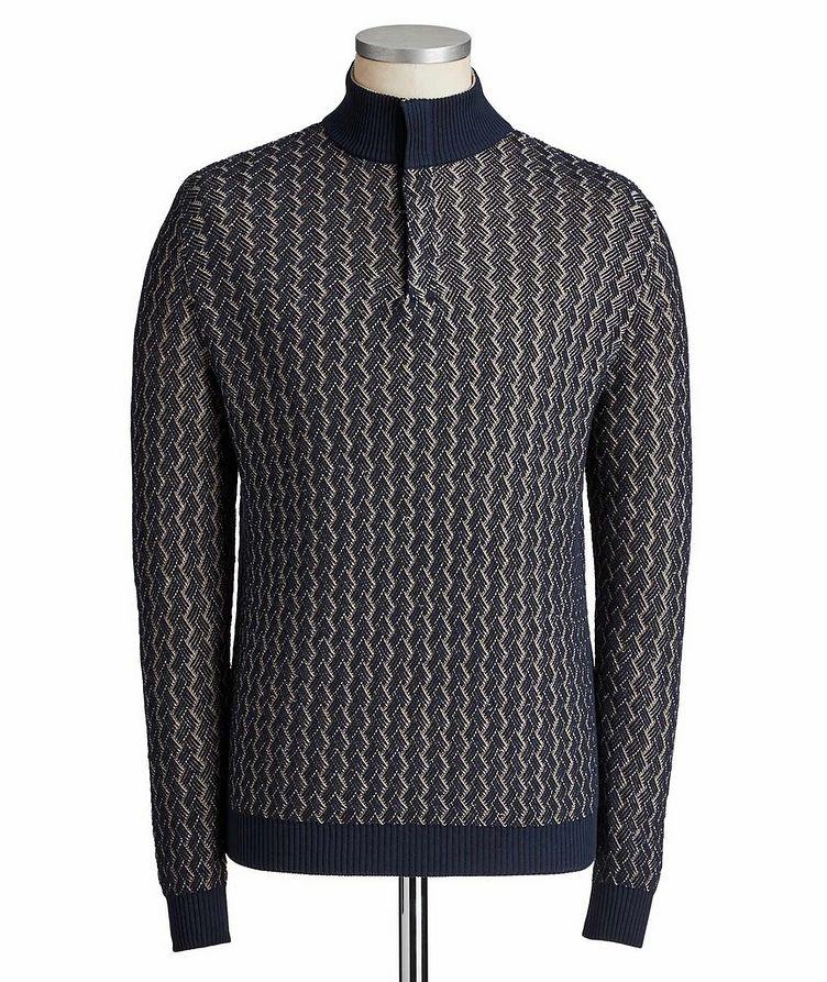 Cotton Mock Neck Sweater image 0