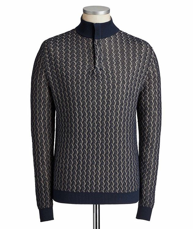 Cotton Mock Neck Sweater picture 1