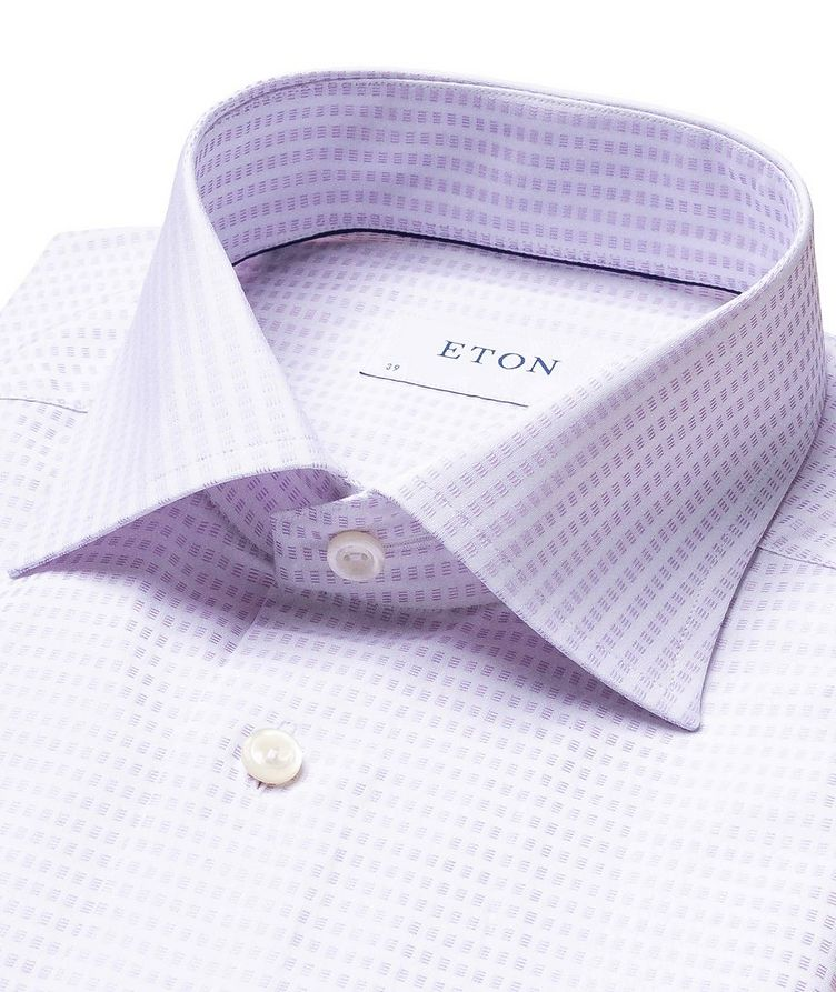 Contemporary Fit Textured-Grid Dress Shirt image 1