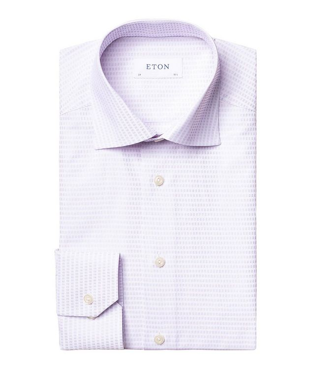 Contemporary Fit Textured-Grid Dress Shirt picture 1