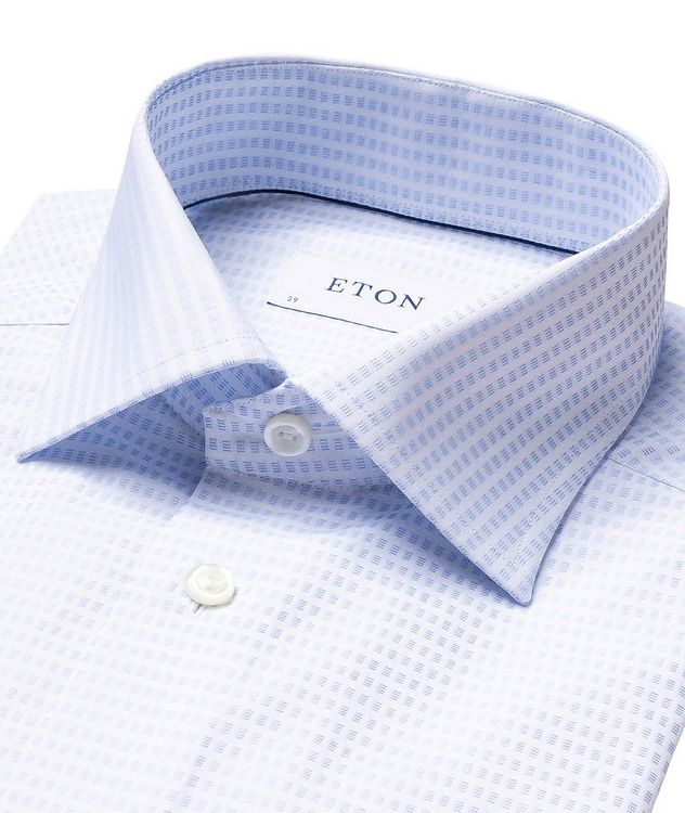 Contemporary Fit Textured-Grid Dress Shirt picture 2