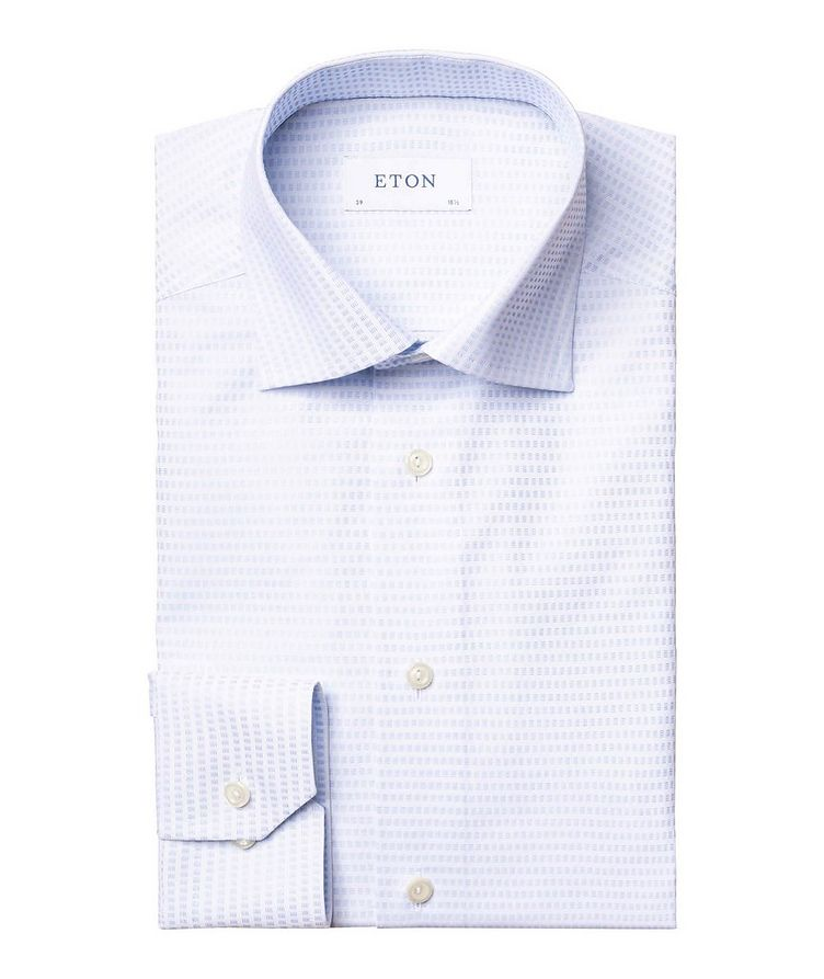 Contemporary Fit Textured-Grid Dress Shirt image 0