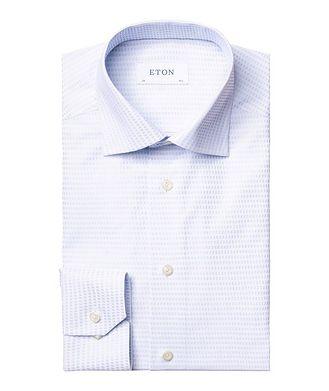 Eton Contemporary Fit Textured-Grid Dress Shirt
