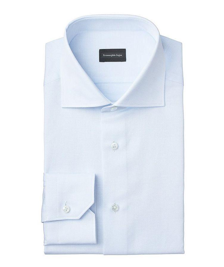 Slim Fit Cotton-Linen Dress Shirt image 0