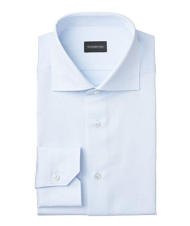 Slim Fit Cotton-Linen Dress Shirt picture 1