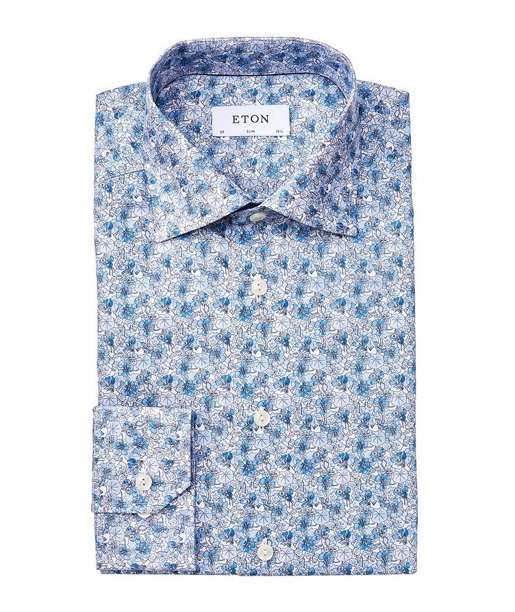 Slim Fit Botanical Dress Shirt image 0
