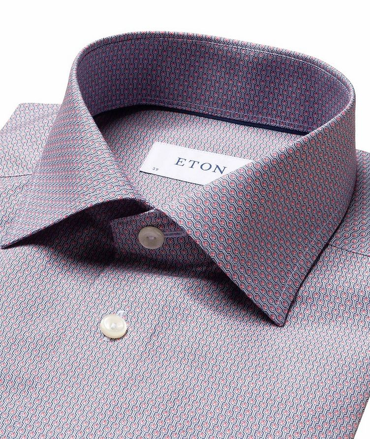 Slim Fit Diamond-Deco Dress Shirt image 1