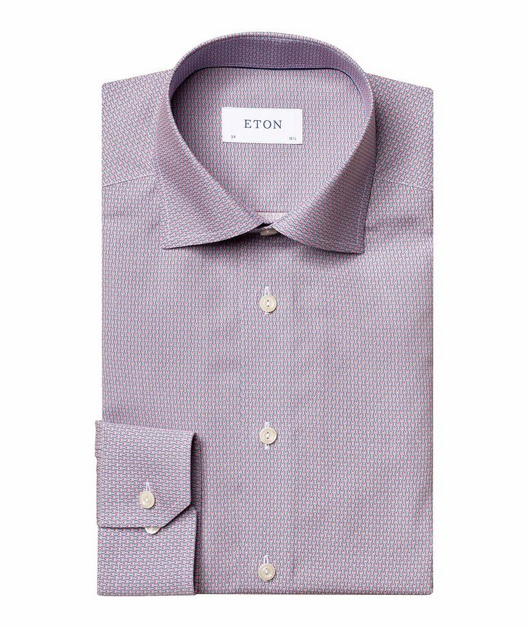 Slim Fit Diamond-Deco Dress Shirt image 0