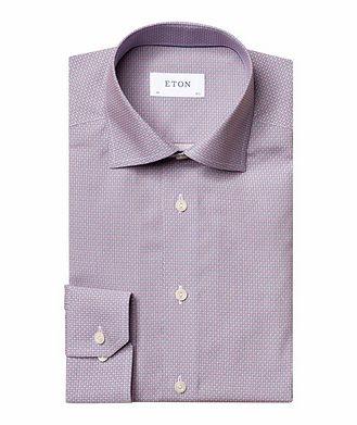 Eton Slim Fit Diamond-Deco Dress Shirt