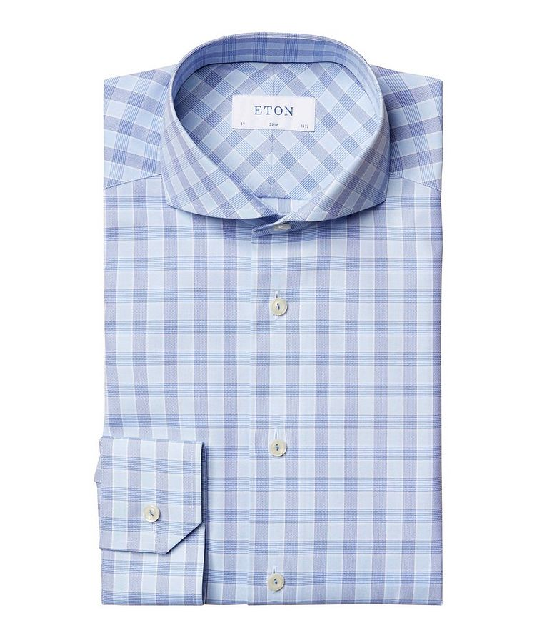 Slim Fit Checked Dress Shirt image 0