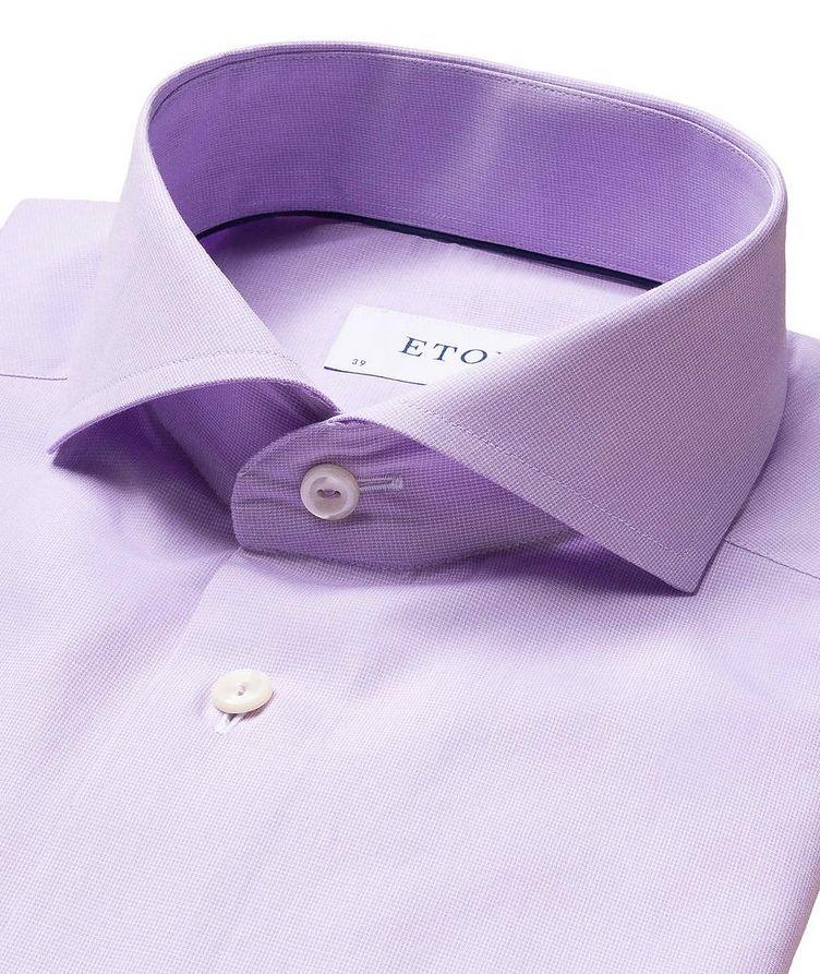 Slim Fit Micro-Check Dress Shirt image 1
