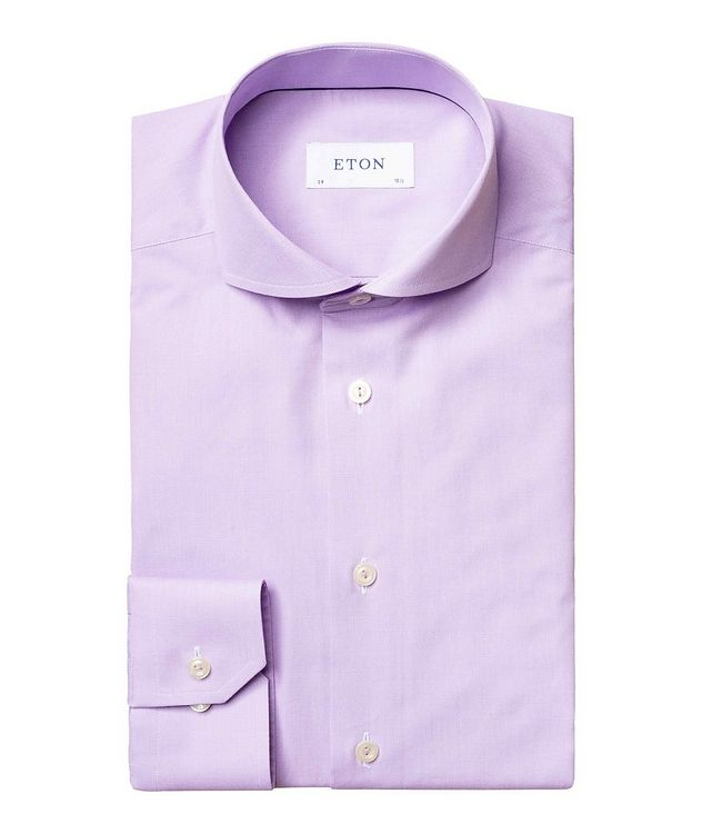Slim Fit Micro-Check Dress Shirt picture 1