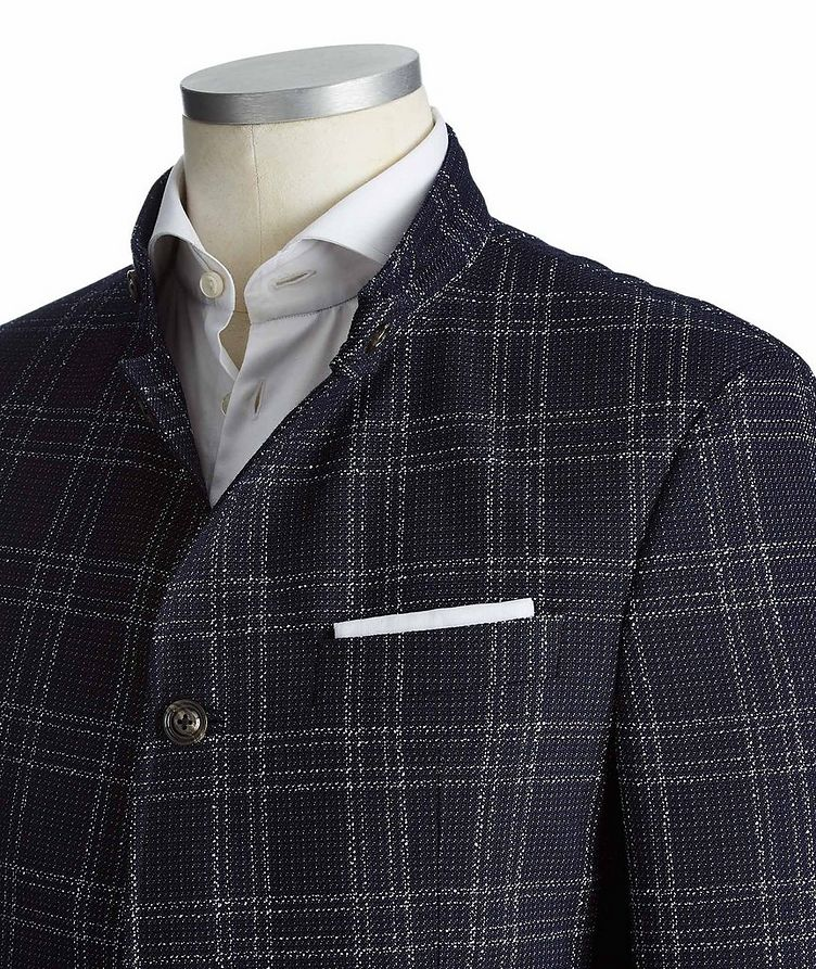 Checked Wool-Cotton Sports Jacket image 1