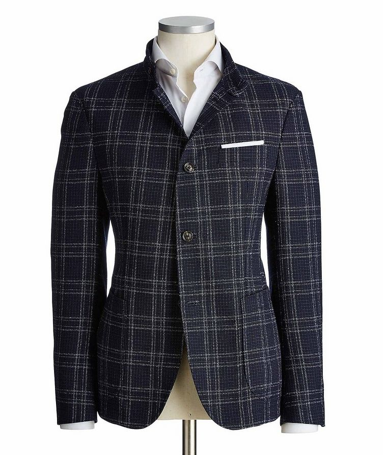 Checked Wool-Cotton Sports Jacket image 0