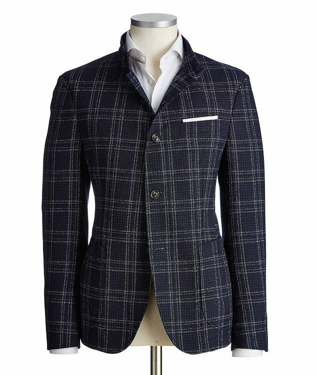 Checked Wool-Cotton Sports Jacket picture 1