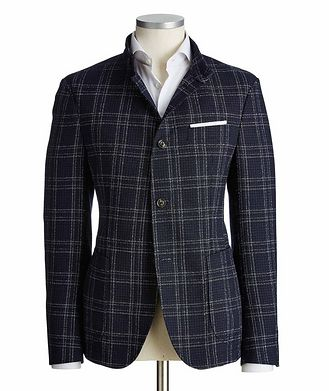 Joop! Checked Wool-Cotton Sports Jacket
