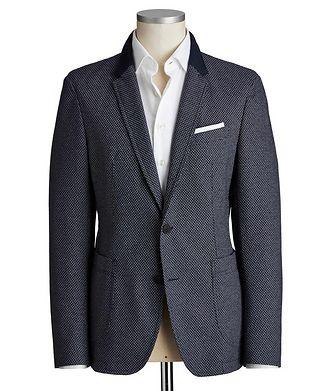 Joop! Slim Fit Diamond-Printed Cotton-Blend Sports Jacket