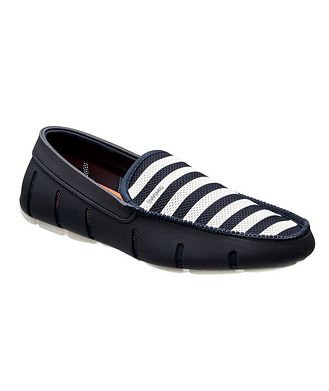 Swims Striped Venetian Loafers