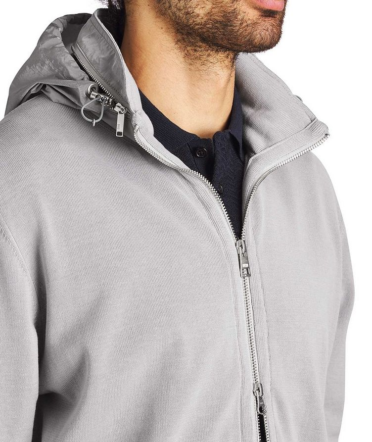 Knit Cotton Hoodie image 2