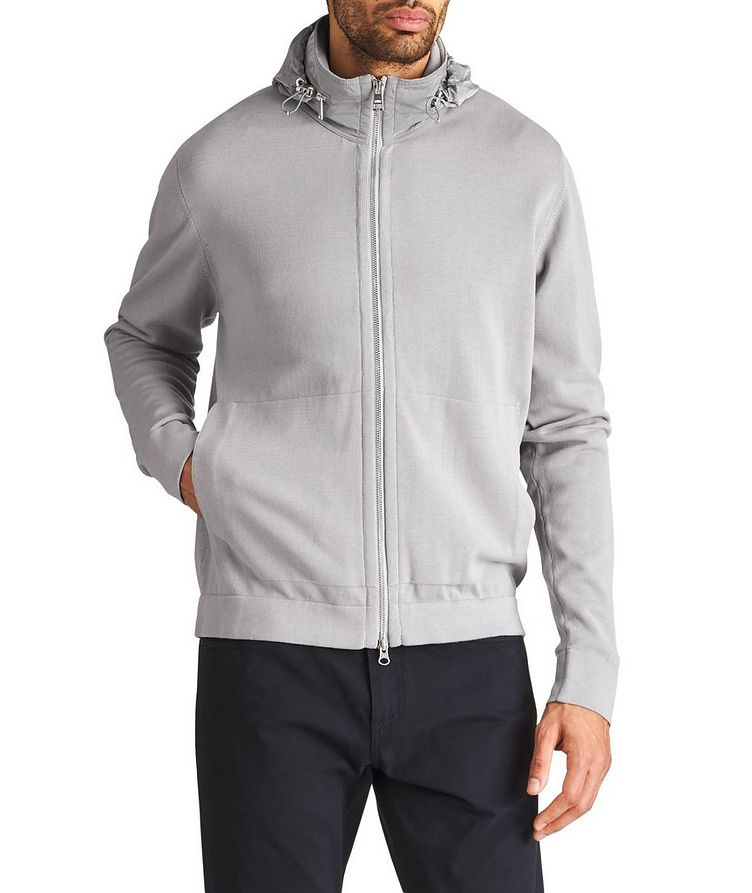 Knit Cotton Hoodie image 0