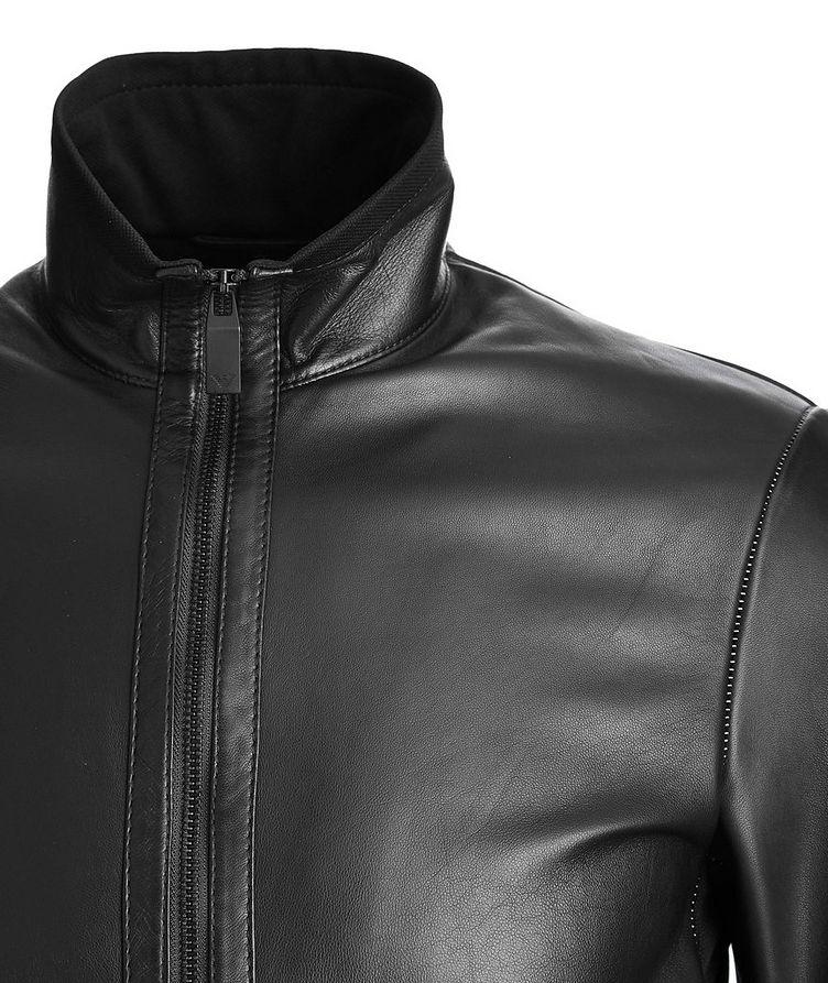 Leather Bomber Jacket image 1