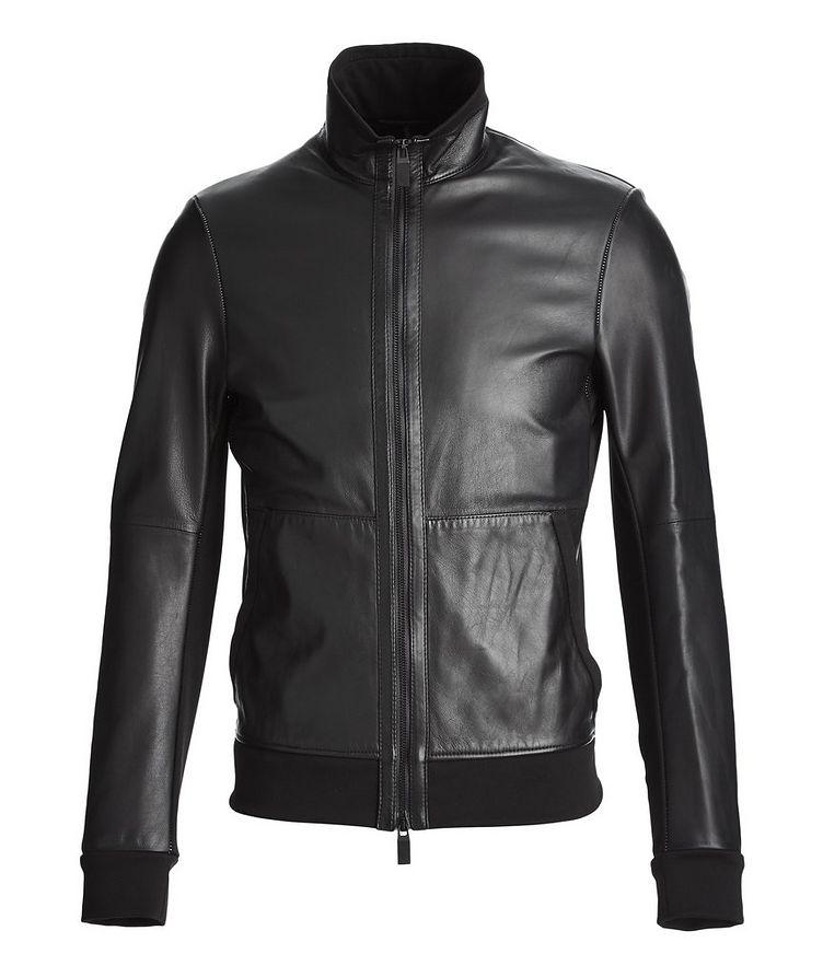 Leather Bomber Jacket image 0