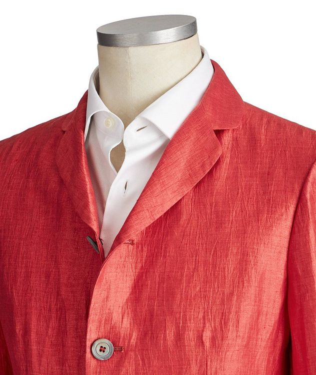 Unstructured Linen-Blend Sports Jacket picture 2