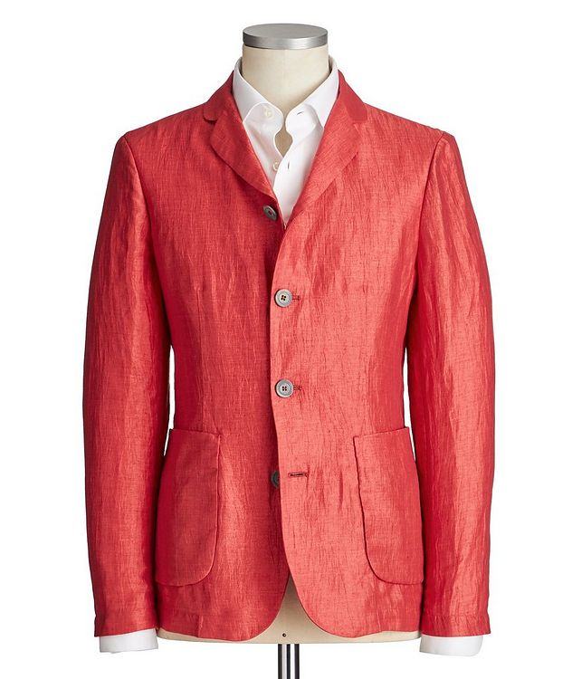 Unstructured Linen-Blend Sports Jacket picture 1