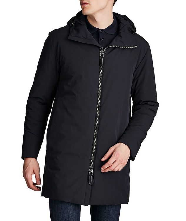 Water-Repellent Cashmere Flake Parka picture 1