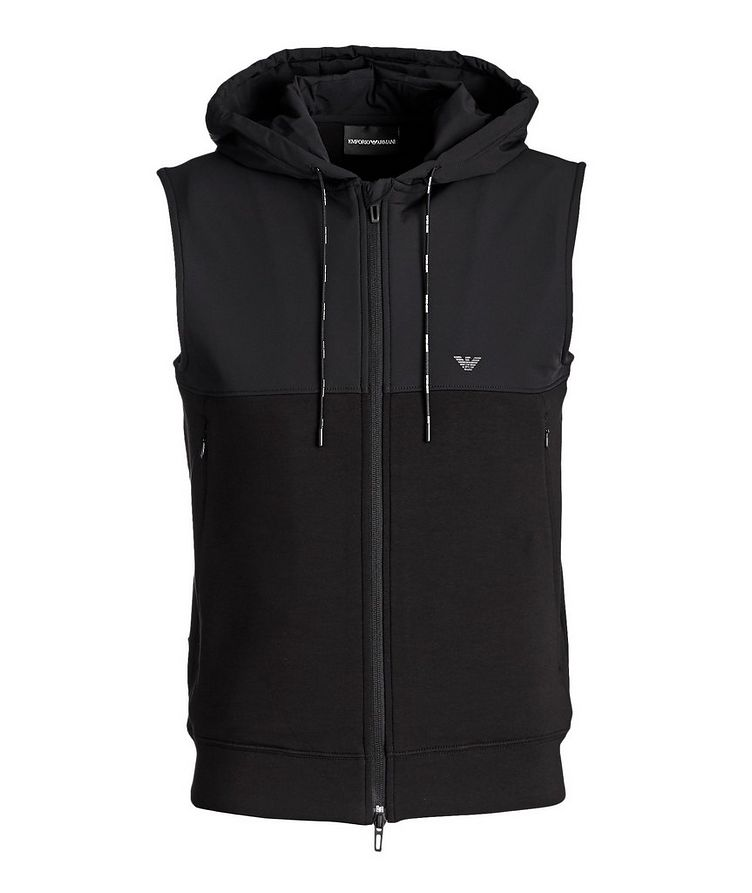 Hooded Stretch-Cotton Vest image 0