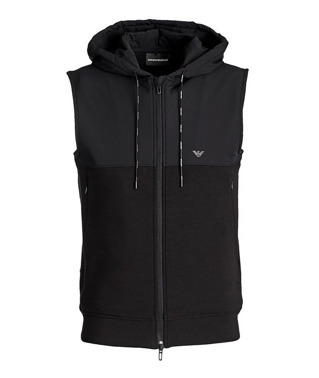 Hooded Stretch-Cotton Vest picture 1