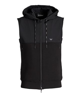 Emporio Armani Hooded Stretch-Cotton Vest