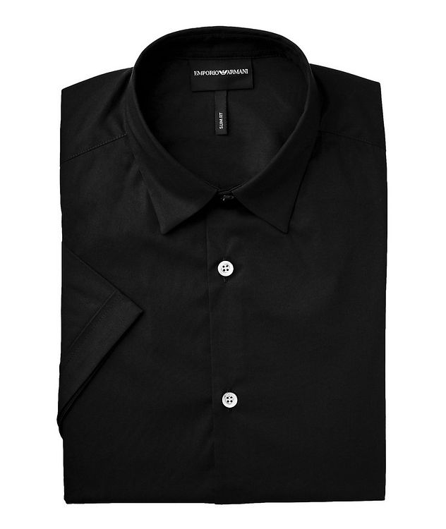 Slim Fit Short-Sleeve Stretch-Cotton Shirt picture 1