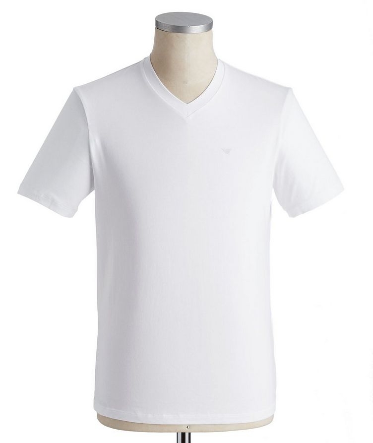Travel Essentials Packable Stretch-Cotton V-Neck T-Shirt image 0