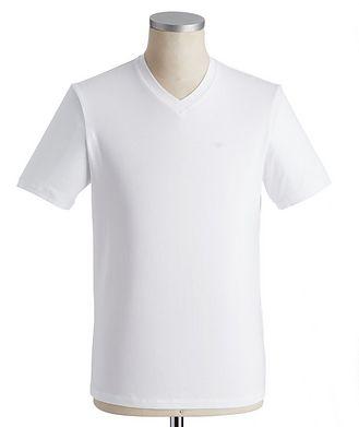 Emporio Armani Travel Essentials Packable Stretch-Cotton V-Neck T-Shirt