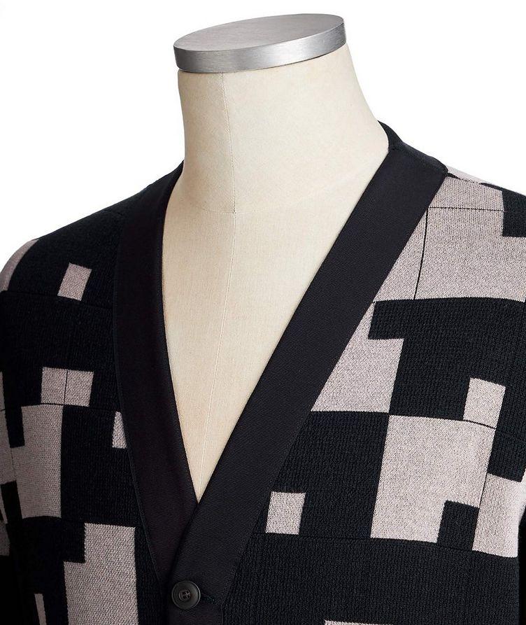 Geometric Silk-Cashmere Blend Cardigan image 1