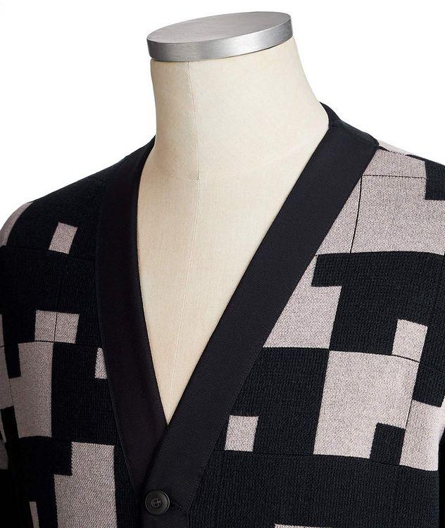 Geometric Silk-Cashmere Blend Cardigan picture 2